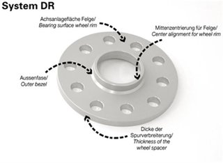 schwarze Radschrauben VA 20 mm//HA 30 mm TuningHeads//H/&R .0443079.DK.SB-2075726-SB-3075726 Spurverbreiterung BlackDrive